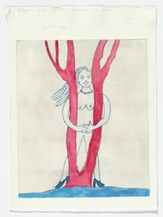 Louise Bourgeois - Embracing the Tree, 2000  State II of II, variant