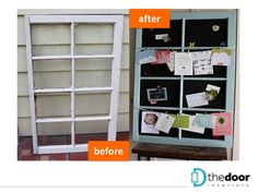 Conversion of an old window into a display board: http://on.fb.me/TH8Jrq