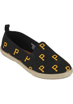 Pittsburgh Pirates Yellow Espandrille Canvas Womens Shoes