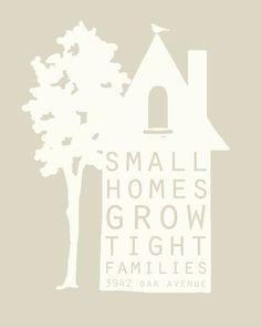 I loooove small & cozy homes.