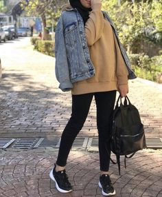 Ready for college hijab outfits – Hijab Fashion 2020 Casual College Outfits, Uni Outfits, Casual Hijab Outfit, Modest Outfits, Fashion Outfits, Modern Hijab Fashion, Muslim Fashion, Sixth Form Outfits, Hijab Trends