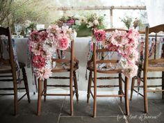 Love the flowers on the backs of the chairs! Photo by: @forloveofjuneau
