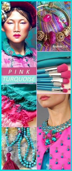 '' Pink & Turquoise '' by Reyhan S.D.