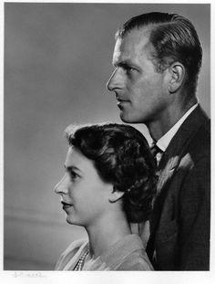 Queen Elizabeth II and Prince Philip, Duke of Edinburgh by ©Yousuf Karsh, bromide print, 1951