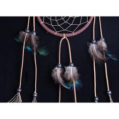 Find More Wicker Crafts Information about Handmade Feather and Beads Decorated Wolf Style Wall Hanging Wind Chime Dream Catcher,High Quality feather boa,China feather hair extensions diy Suppliers, Cheap feather mask from Come on Shopping on Aliexpress.com