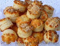 pogacsa (Hungarian biscuit) with sour cream