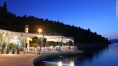 The five-star Hotel Croatia Cavtat has a distinct 1970s James Bond-esque exterior that overlooks the entire harbor.