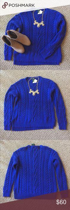 Blue Medium Ralph Lauren Cable-Knit Sweater NWT Ralph Lauren Royal Blue Cable-Knit Sweater Lauren Ralph Lauren Sweaters Crew & Scoop Necks