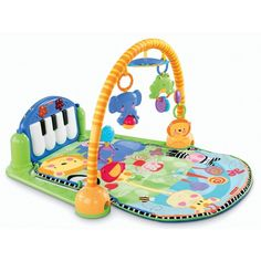 Fisher-Price Discover 'n Grow Kick and Play Piano Gym ($49) ❤ liked on Polyvore featuring 57. seats/swings/mats. and baby