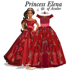 Princess Elena of Avalor - Ballgown by supercalifragilistica on Polyvore…