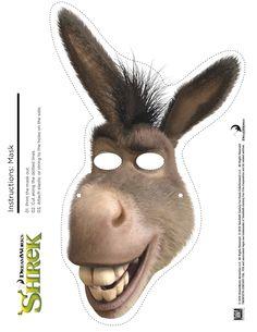 Shrek Photo Booth Props: Free Printable Shrek Mask Shrek Photo Booth Props + Print Free Printable Shrek Mask The post Shrek Photo Booth Props: Free Printable Shrek Mask appeared first on Paris Disneyland Pictures. Donkey Mask, Donkey Costume, Shrek Donkey, Shrek Costume, Shrek Wedding, Shrek Character, Fun Rainy Day Activities, Gugu, Hat Crafts