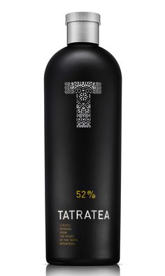 TATRATEA product branding and packaging of strong slovak spirit design by PERGAMEN, slovakia
