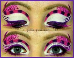 Cheshire cat inspired makeup look 2                                                                                                                                                     More