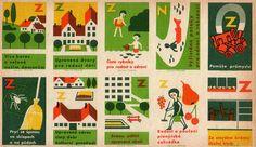 Czechoslovak matchbox labels (uncut sheet) by oliver.tomas, via Flickr