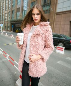 Winter Womens Faux Fur Loose thick jacket fur coat padded trench fur parkas in Clothes, Shoes & Accessories, Women's Clothing, Coats & Jackets | eBay