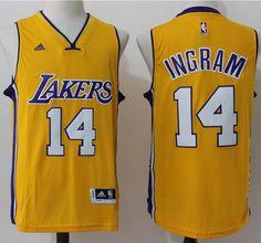 Lakers #14 Brandon Ingram Gold Stitched NBA Jersey