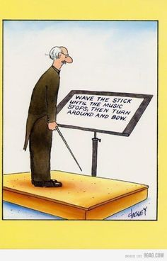 conductors, so that's what they see when they stand up there! :)