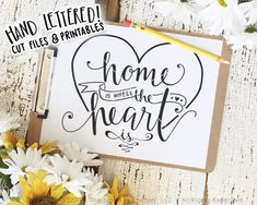 Home Is Where The Heart Is SVG Cut File by The Smudge Factory™, LLC Watch us draw on Instagram! @TheSmudgeFactory Like & follow us on Facebook for access to FREEBIES! www.facebook.com/TheSmudgeFactory ***CURRENT COUPON CODES*** Use Code 5off20 for $5 off your purchase of $20 or more; or use code 10off30 for $10 off your purchase of $30 or more! Commercial Licensing is now available! Please do not sell items using our art without purchasing the appropriate commercial licensing. Tha...
