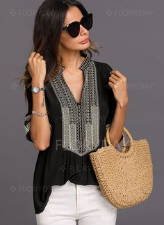 Latest fashion trends in women's Blouses. Shop online for fashionable ladies' Blouses at Floryday - your favourite high street store. Womens Fashion Online, Latest Fashion For Women, Latest Fashion Trends, Fashion Magazin, Blouses For Women, Ladies Blouses, Women's Blouses, Fashion Advice, Fashion Websites