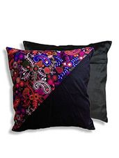 multi and black raw silk cushion cover - Online Shopping for Cushion Covers