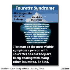 Tourettes is just the tip of the iceberg postcard Anxiety, Stress