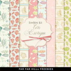 New Freebies Kit of Backgrounds - Côte Exotique (Far Far Hill)