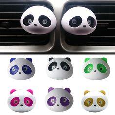 2pcs car-styling Panda Car Perfumes 100 original 5ml Solid Air Freshener OEM Air Conditioning Vent Flavoring In the Car parfums  Price: 1.12 USD