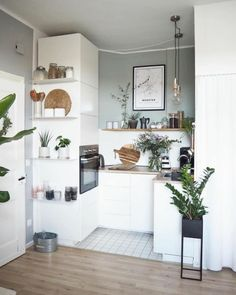 Scandinavian kitchen dream combo: beautiful and functional : ScandinavianInterior Apartment Kitchen, Apartment Interior, Home Decor Kitchen, Apartment Design, Interior Design Kitchen, Apartment Living, Home Kitchens, Ikea Interior, Tiny Kitchens