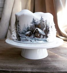 """Join 5 people right now at """"Cake Wrecks - Home - Sunday Sweets: Stare-Worthy Christmas Cakes"""" Holiday Cakes, Christmas Desserts, Christmas Treats, Christmas Baking, Christmas Cakes, Pretty Cakes, Beautiful Cakes, Amazing Cakes, Crazy Cakes"""