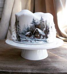 #калининград #sweet #dessert #тортыкалининград #cake ❄️💙❄️роспись пищевыми красками😙