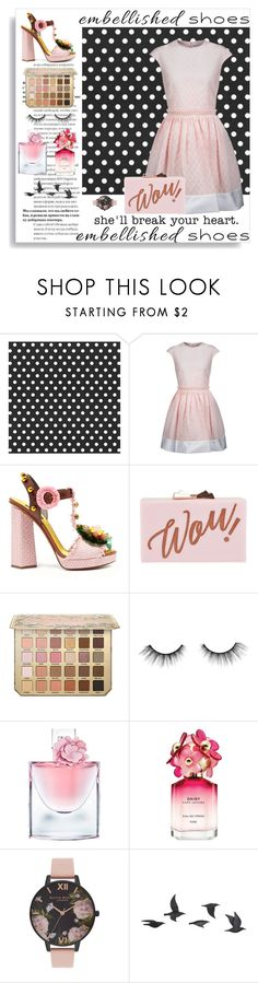 """Embellish Me"" by rosiecheeksandfreckles ❤ liked on Polyvore featuring Carven, Dolce&Gabbana, Ted Baker, tarte, Lancôme, Marc Jacobs, Olivia Burton and Jayson Home"
