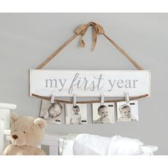 Features: -Arrives with jute ribbon and bow to hang on wall. Style: -Country/Cottage. Color: -White. Distressed: -Yes. Material: -Wood. Theme: -Family. Text: -Yes. Dimensions: Overall Height - More