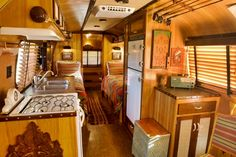 A 1977 Airstream International Sovereign redesigned by Craig Dorsey. Find more at: http://impressivemagazine.com/2013/07/13/5-old-airstream-trailers-beautifully-restored/ #airstreamtrailers