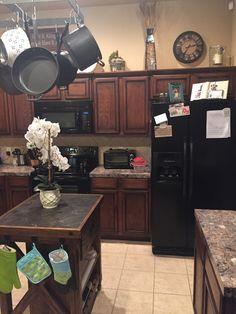 Kitchen Above Cabinet Display Island Pot Rack