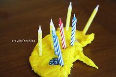 playdoh birthday cakes #crayonfreckles