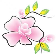 Flor do tinhó imagens para adesivos de unhas