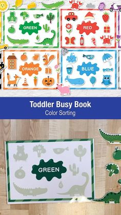Baby Learning Activities, Early Childhood Activities, Montessori Activities, Infant Activities, Kindergarten Activities, Activities For Kids, Preschool Colors, Toddler Books, Busy Book