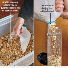 Chicken Coop - Make filling bird feeders a snap with this helpful DIY scoop. (Chicken Coop Hacks) Building a chicken coop does not have to be tricky nor does it have to set you back a ton of scratch.