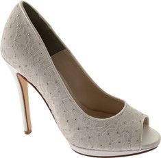 The Classy from Touch Ups is an elegant bridal shoe that features a lace overlay and dyeable satin material.