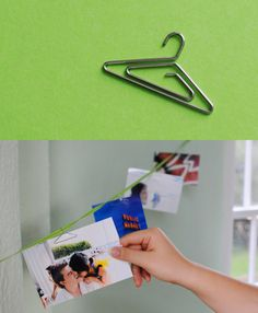 hanger shaped paperclips!