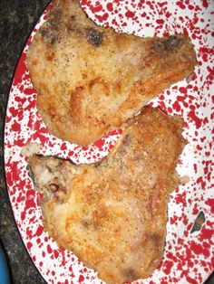 This is a great oven fried pork chop recipe! The chops are tasty, tender, and juicy. Photo included.