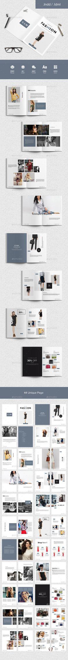 Fashion Catalogue & Magazine by suavedigital A clean, modern, minimalistic template that is suitable for magazines, catalogs, portfolio etc. Detail description of this item is