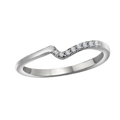 Unique Curved Diamond Wedding Ring from Steven Singer Jewelers