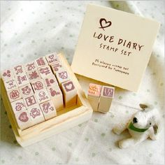 1 Box 25Pcs Love Diary Stamp Set Children Cartoon Toys Cute Stamp DIY Decoration
