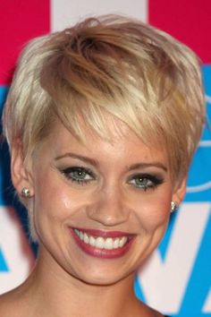 short haircuts for round faces 2014 - Google Search