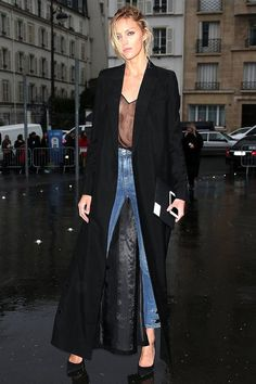 Anja Rubik Ups The Ante On Model-Off-Duty Style In A Sexy Sheer Top