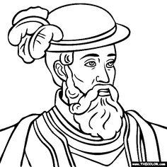 john cabot coloring pages - photo#16