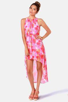 Just Add Watercolor High-Low Multi Print Dress at LuLus.com!