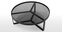 Aula Coffee Table, Black and Grey | made.com