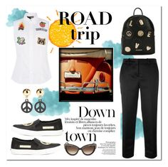 """""""Road Trip"""" by anninad ❤ liked on Polyvore featuring Love Moschino, Moschino and Pottery Barn"""